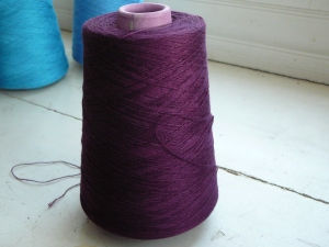 weaving yarn bamboo 10/2 color augergine