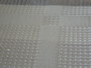 weaving bamboo yarn shawl