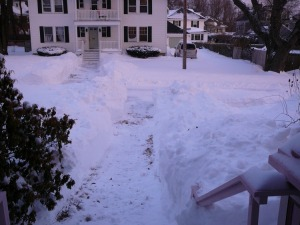 Front steps and walk way dug out