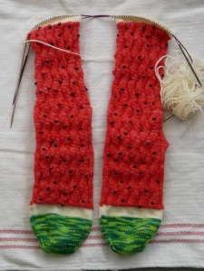 Near the end of the cuff.